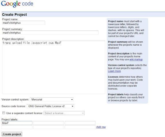 »[FM] Hướng dẫn chi tiết Upload File Javascript lên Google Code [hot] 12