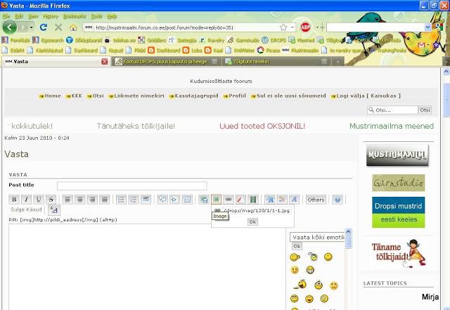 pilti - Kuidas lisada netialbumitest pilte siia foorumi postitusse Mozilla2