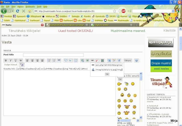 pilti - Kuidas lisada netialbumitest pilte siia foorumi postitusse Mozilla3