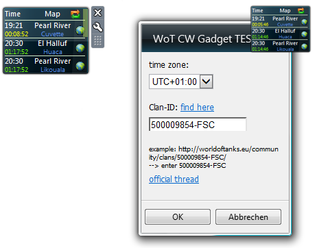 WoT Clan Wars Timer Gadget - odlican alat za Commandere Description