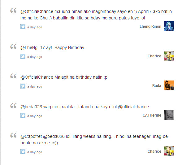 Charice Twitter Party (04/09/12) 05