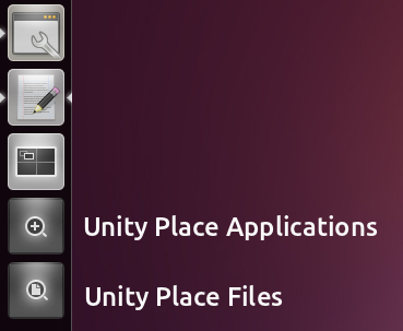 Настройка Unity в Ubuntu 11.04 Files-applications