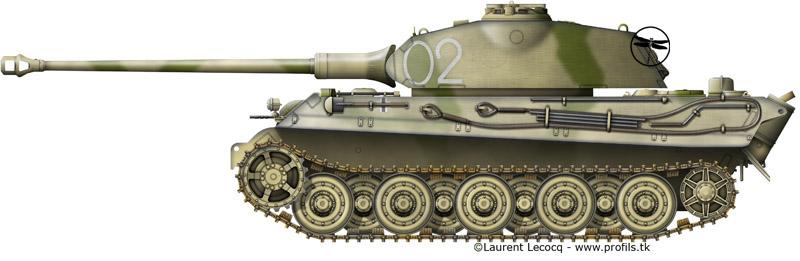 1- La Panzer Kompanie 316 (1/Panzer Abteilung 302)- France 1944 G-Tiger%20II%20Porsche-02