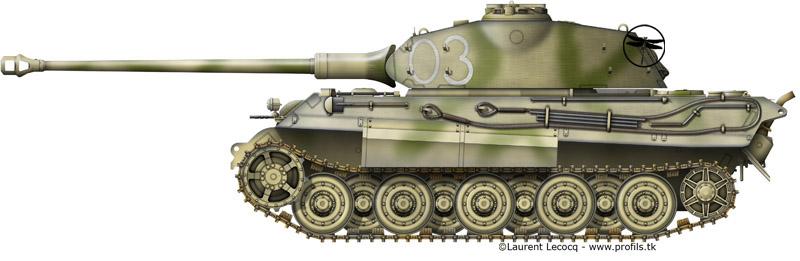1- La Panzer Kompanie 316 (1/Panzer Abteilung 302)- France 1944 G-Tiger%20II%20Porsche-03