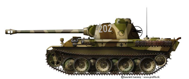 Panzerkampfwagen Panzer V Panther Ausf D. Panther-10-202-inconnu-France-ete1944