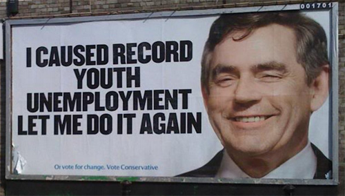 Isn't the 83% increase in youth unemployment since January proof enough that this government's policies are a failure? Cam_gbposter