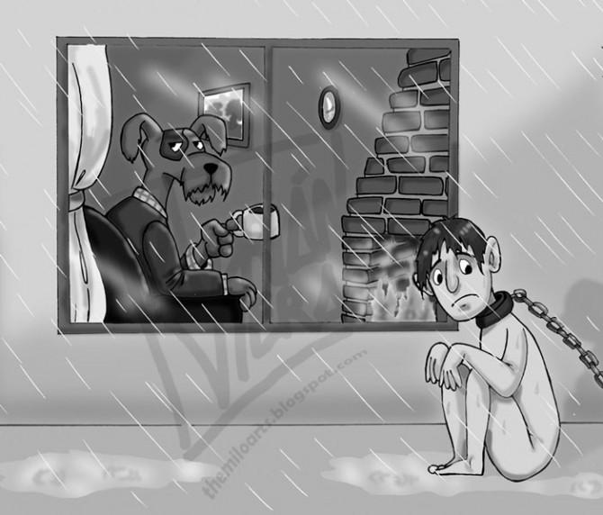 ZHIVOTNI I LUGJE Satirical-animal-right-comics-parallel-universe-27-670x572