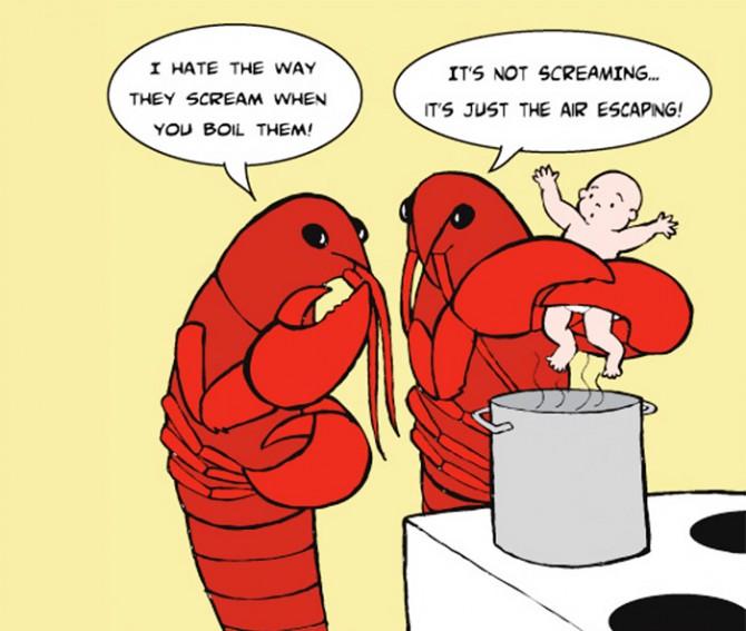 ZHIVOTNI I LUGJE Satirical-animal-rights-illustrations-parallel-universe-24-571a25195058c__700-670x567