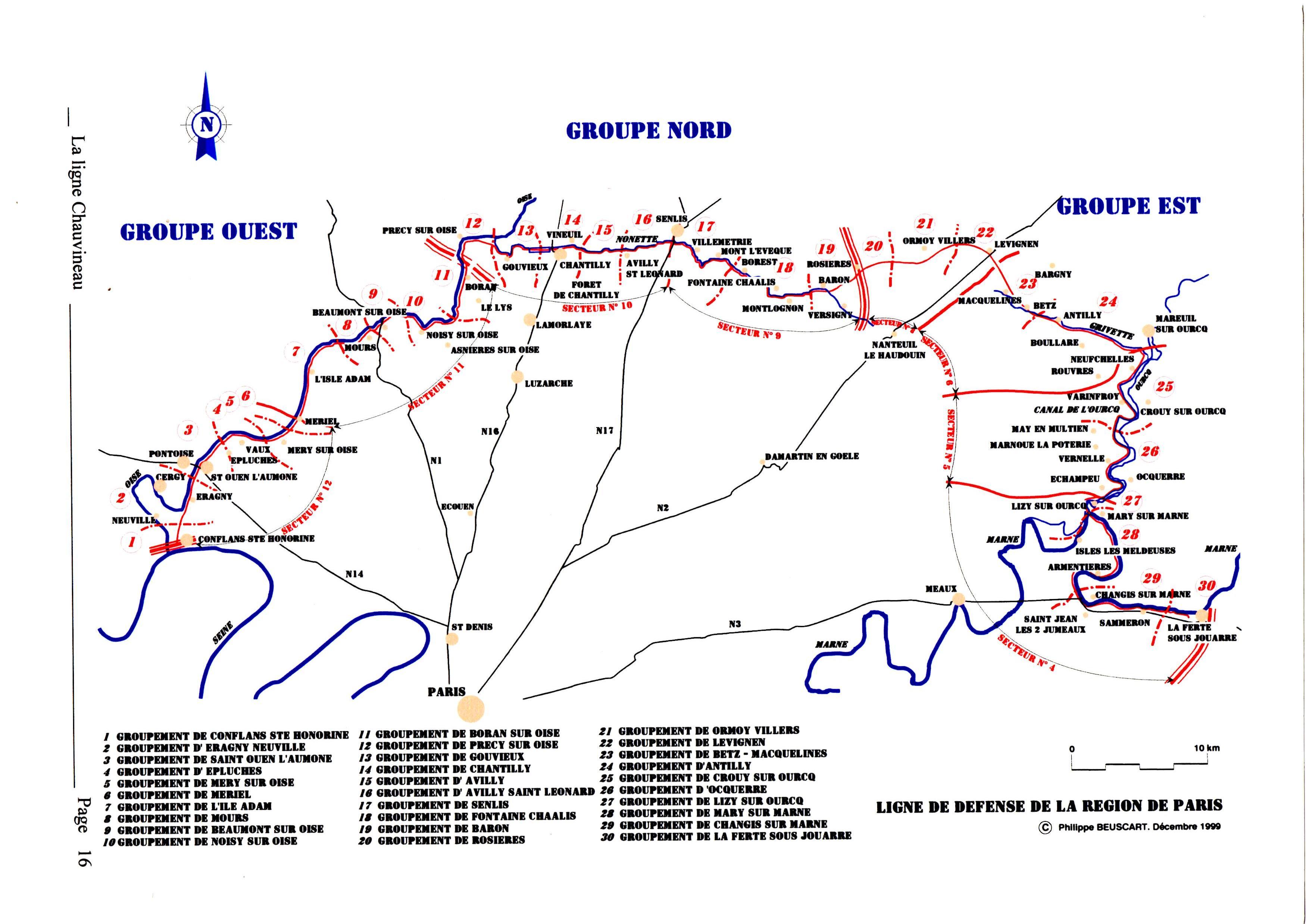 La ligne Chauvineau Cartegene