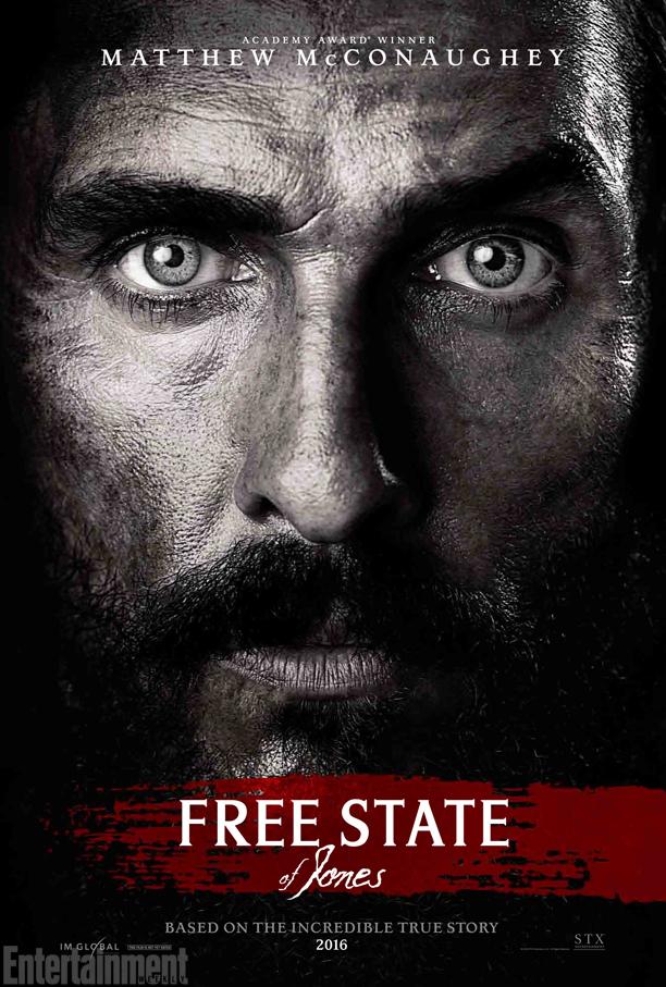 [2016] A l'affiche ou bientôt sur les écrans (vu ou à voir) - Page 18 L%E2%80%99affiche-de-Free-State-of-Jones-sous-l%E2%80%99%C5%93il-de-McConaughey-