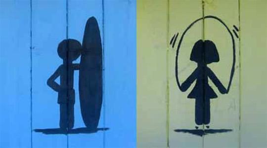 10 criativas placas de casas de banho 81