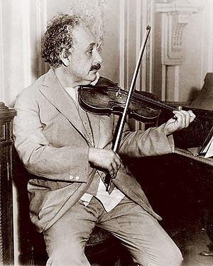 A  funny quote by Albert EINSTEIN Einstein_music