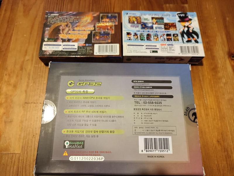 [VDS] Console Gamepark GP32 complète en boîte + jeux officiels 51109888021_f058a212f9_c