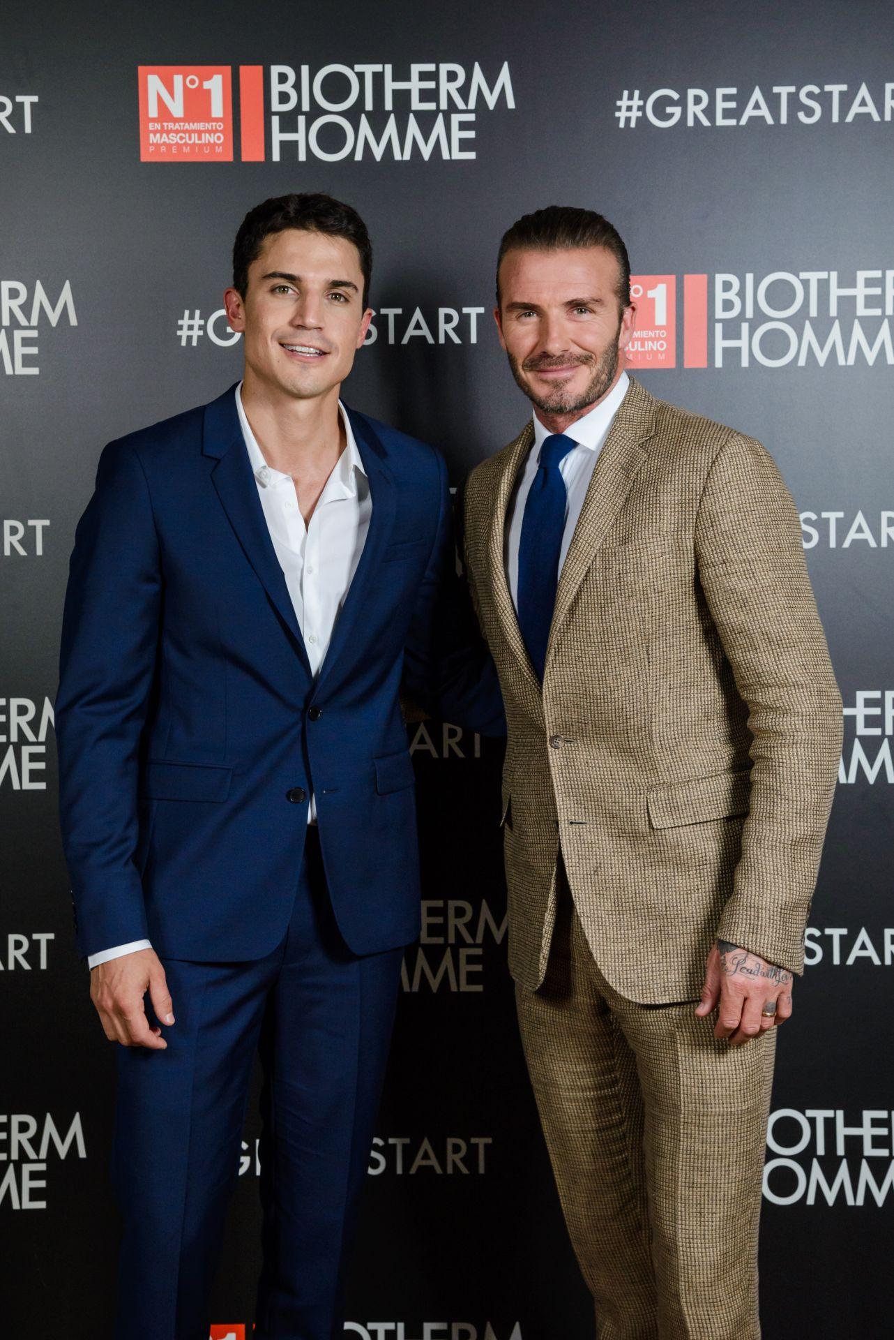 ¿Cuánto mide Álex González? (Actor) - Altura David-Beckham-with-Alex-Gonzalez-for-Biotherm-Homme-copia