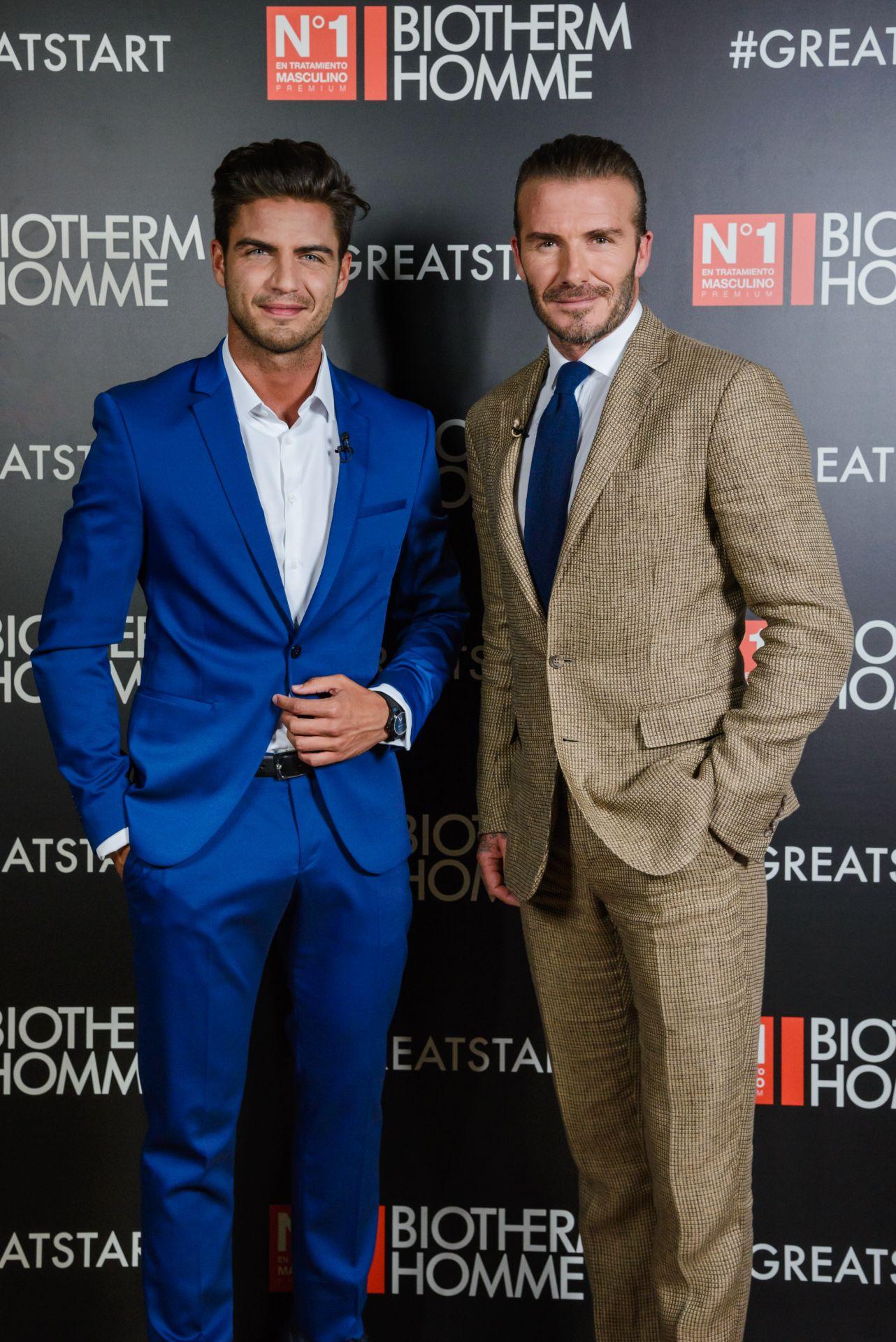 ¿Cuánto mide Maxi Iglesias? - Altura David-Beckham-with-Maxi-Iglesias-for-Biotherm-Homme
