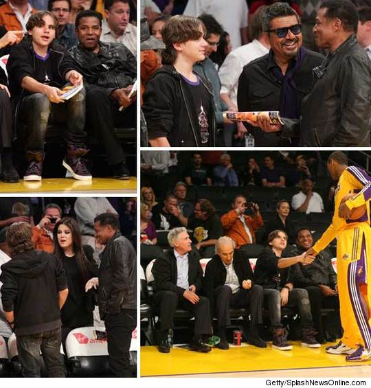 Prince Michael assiste alla partita dei Los Angeles Lakers 0126-prince-jermaine-getty-basketball-credit-2