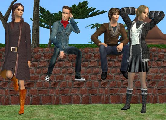 """[Sims 2] Photos Mode avec les """"Poses Box""""(boite à poses) Modenov17"""