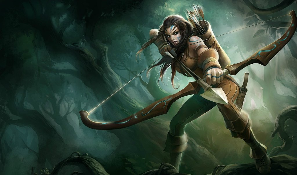 P.O League Of Legends Champs And Skins Woad-Ashe-Splash