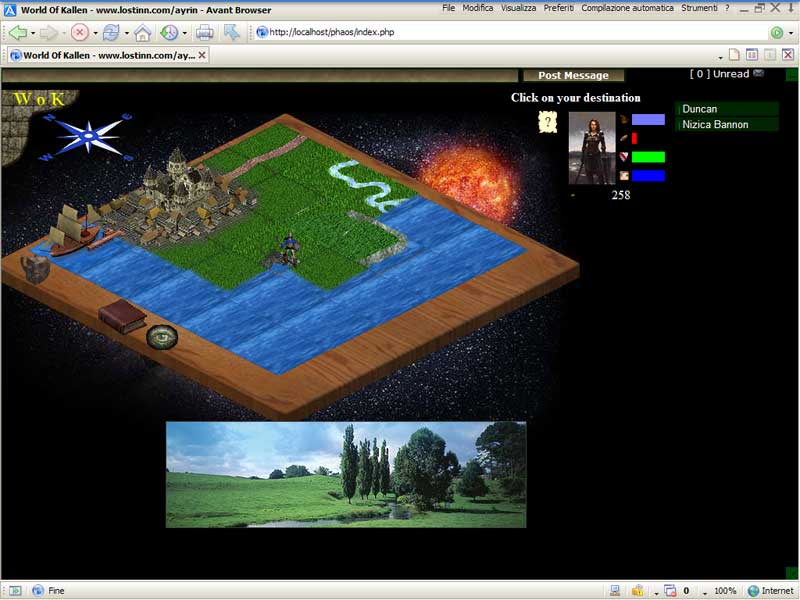 World of Kallen - Web Game (Inglês) Screen1