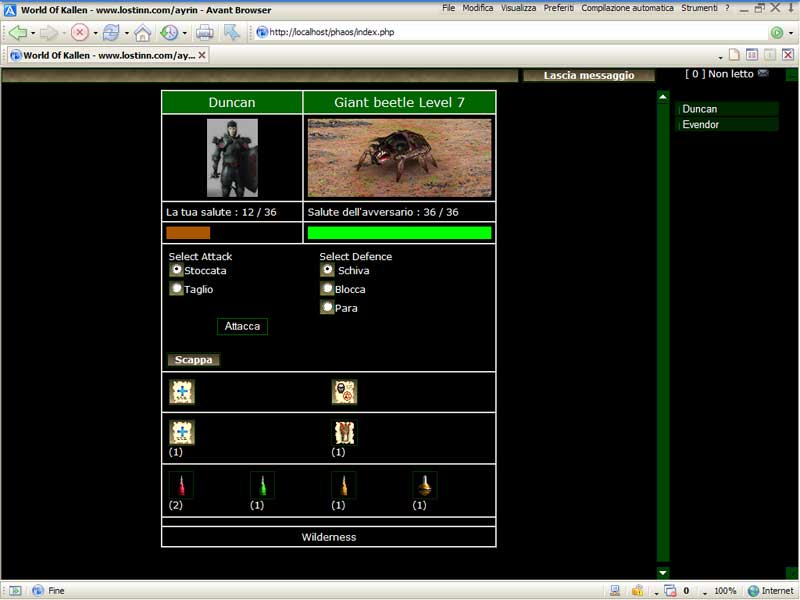 World of Kallen - Web Game (Inglês) Screen3