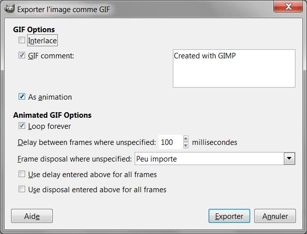 [TUTO] Gif animé avec Gimp Export