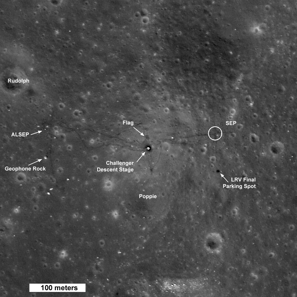 Apollo 17 par LRO Ap17_1st50km_4release