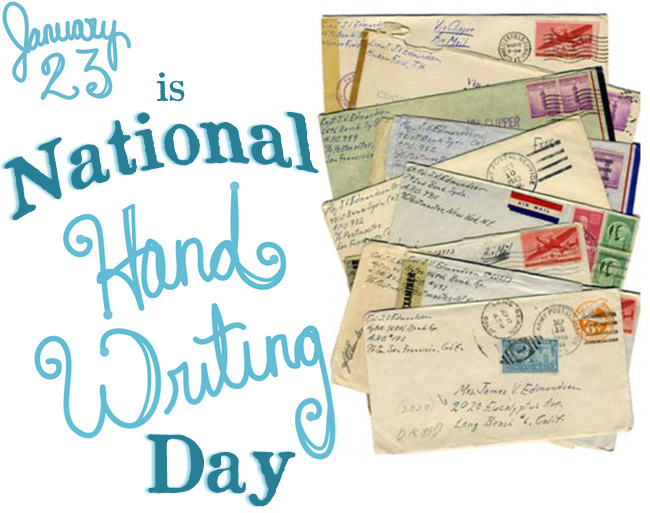 AGENDA: Global Hand Days! Handwriting