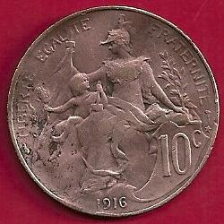 5 Céntimos Franco. Francia (1920) France%2010%20centimes%201916%20r