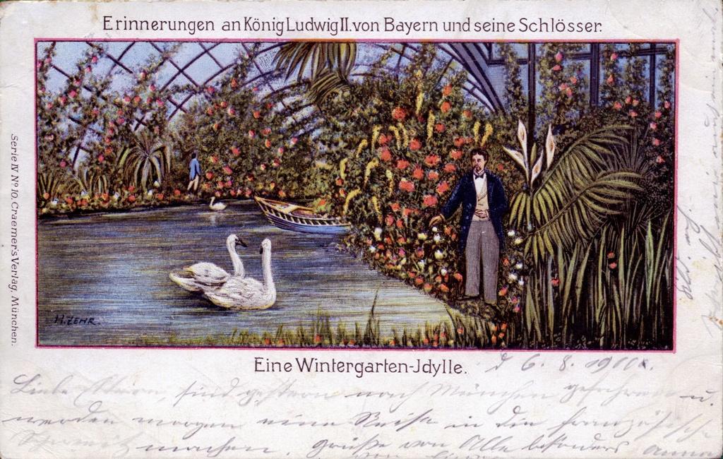 Notre Jeu de l'Automne - Page 8 Wintergarten-Idylle-AK-gel-1900