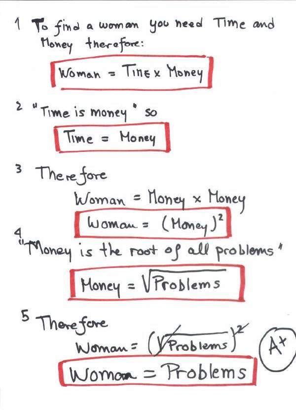 Women explained by engineers WomanProblem