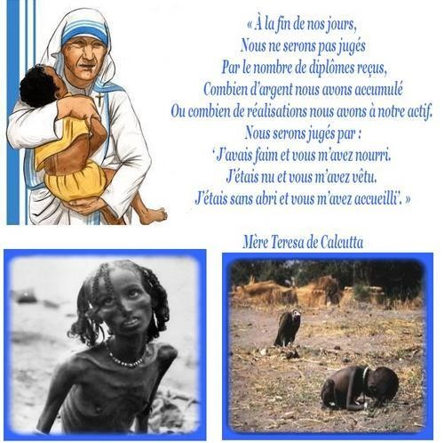 Michel blogue les 450 citations/Bienheureuse Mère Teresa de Calcutta/Navigation Libre/ Bc447e7a