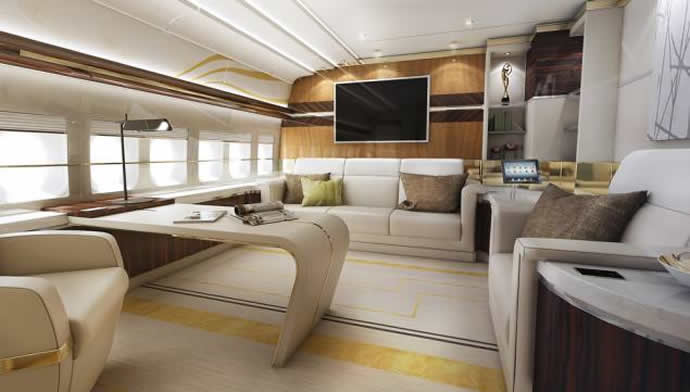 Boeing avions d'affaires Greenpoint-private-747-8-interior-2