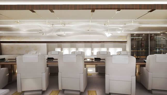 Boeing avions d'affaires Greenpoint-private-747-8-interior-3