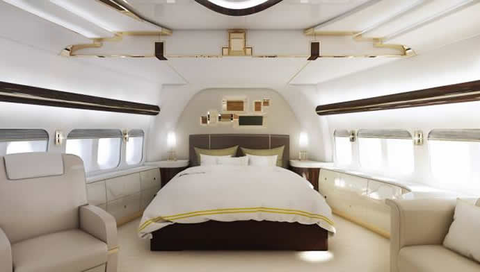 Boeing avions d'affaires Greenpoint-private-747-8-interior-4