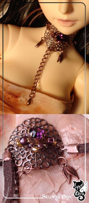 Lysel K. créations - Accessoires, Chapeau, Bijoux LyselSB_BJDparure001s