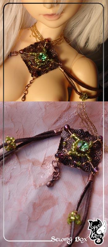 Lysel K. créations - Accessoires, Chapeau, Bijoux LyselSB_BJDparure007s
