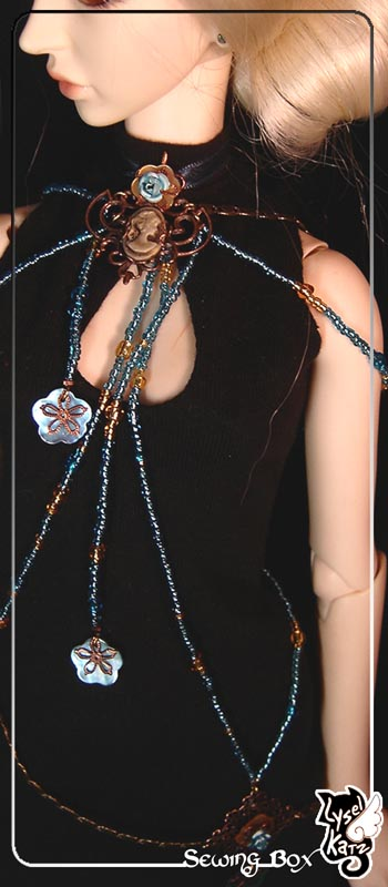 Lysel K. créations - Accessoires, Chapeau, Bijoux LyselSB_BJDparure017-rose02s