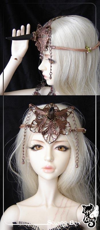Lysel K. créations - Accessoires, Chapeau, Bijoux LyselSB_camelia-headpiece007As
