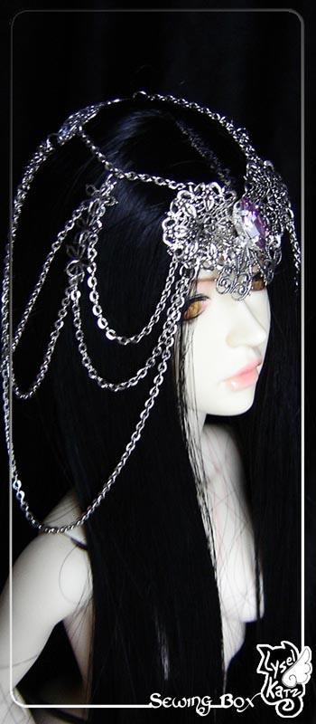 Lysel K. créations - Accessoires, Chapeau, Bijoux LyselSB_camelia-headpiece015As