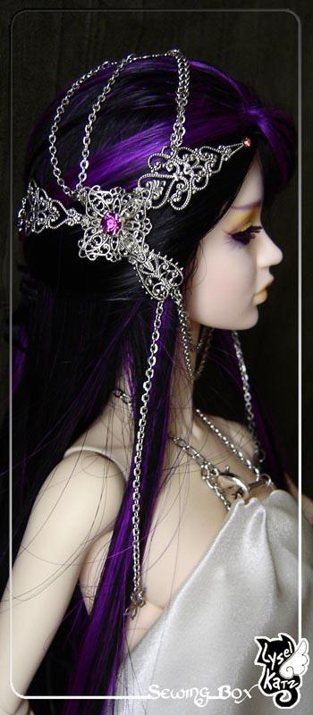 Lysel K. créations - Accessoires, Chapeau, Bijoux LyselSB_camelia-headpiece016Ds