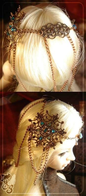 Lysel K. créations - Accessoires, Chapeau, Bijoux LyselSB_camelia-headpiece102s