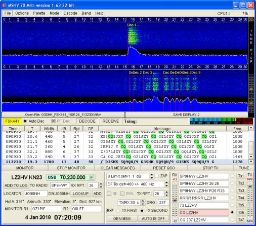 MSHV : Réponses possibles à plusieurs appels simultanément en mode numérique FT8 / FT4 Mshv1