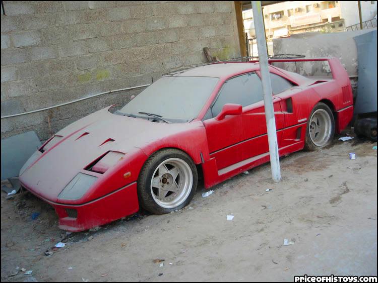 Des voitures à pleurer ... Dubai-ferrari-f40-1