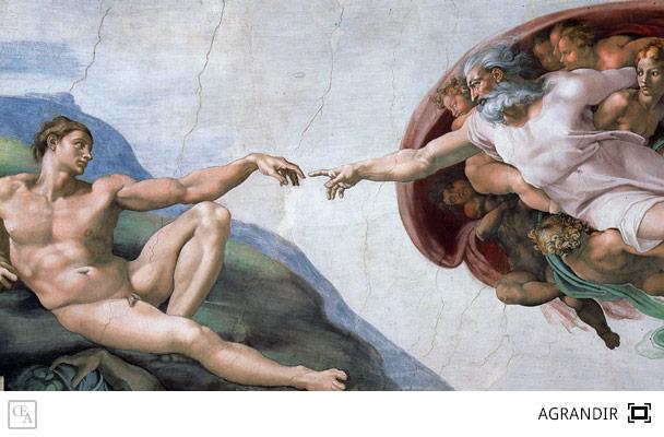 Les pouvoirs de JESUS  - Page 4 La-creation-adam-michel-ange