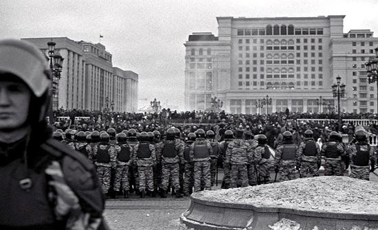Manifestation contre le régime en place El5