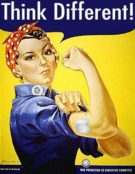 D'une affiche de propagande au féminisme, Rosie, We can do it Steve-jobs-apple-and-rosie-the-riveter-L-_xS7MU