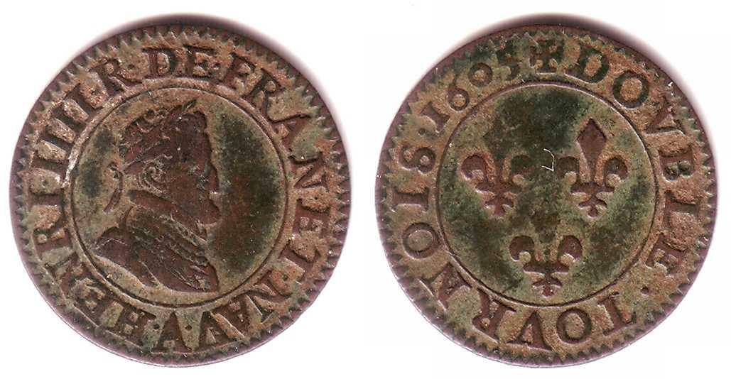 Francia - Double Tournois de Henry IV (159¿?) 250-6915-1plus2-f