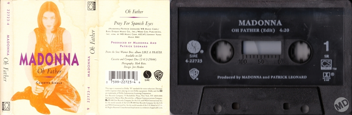 Single 'Oh Father' Oh-father-cassette-single-usa