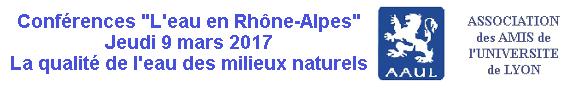 Conférences de la Fondation pour l'Université de Lyon : L'eau en Rhône-Alpes Etiquette63