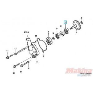 Oleo e Anti Congelante misturado 91001ka4003-bearing-water-pump-honda-cr-250-crf-250-crf-450-cb-600-cbf-600-